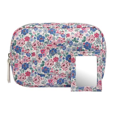 OVAL COSMETIC BAG MEWS DITSY