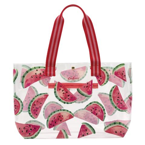PVC BEACHBAG WATERMELONS PISTACHE