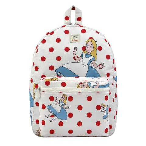 FALLING ALICE LIGHT CREAM DISNEY REVERSIBLE BACKPACK