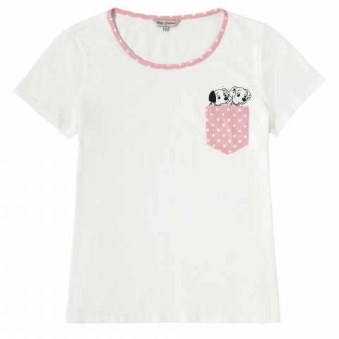 DISNEY POCKET PLACEMENT TEE PUPPY POCKET IVORY M