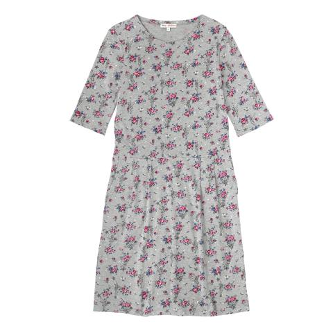 DISNEY COTTON JERSEY DROPPED WAIST DRESS TINKER BELL POSY GREY MARL