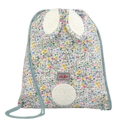 KIDS BUNNY DRAWSTRING BAG BUNNY MEADOW