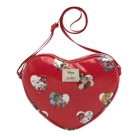 ALICE HEARTS LIGHT RED DISNEY HEART SHAPED HANDBAG