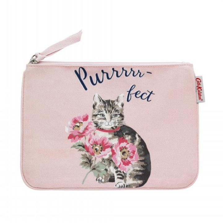 POUCH CAT & FLOWERS