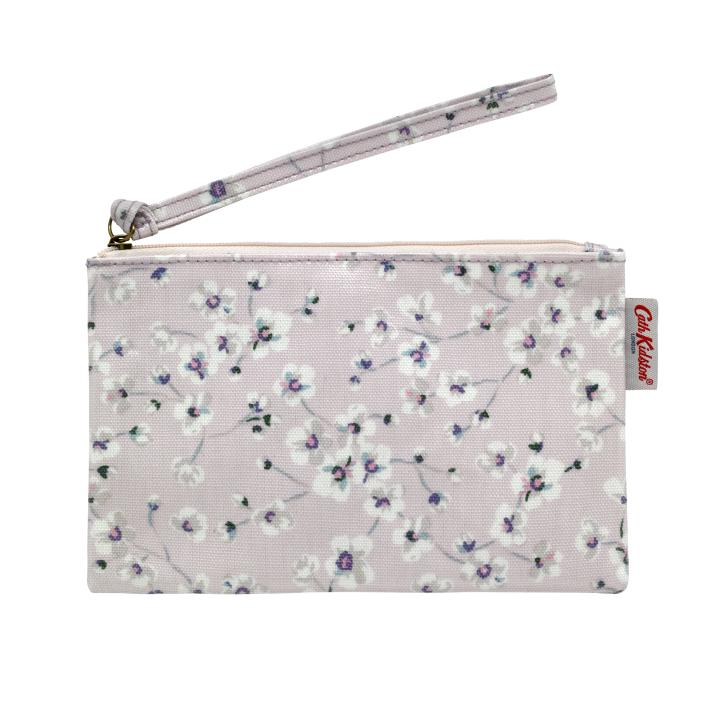 ZIP PURSE WITH WRIST STRAP WELLESLEY DITSY BLUSH PINK