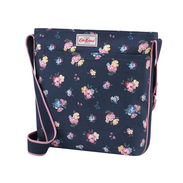 ZIPPED MESSENGER BAG PARK MEADOW NAVY