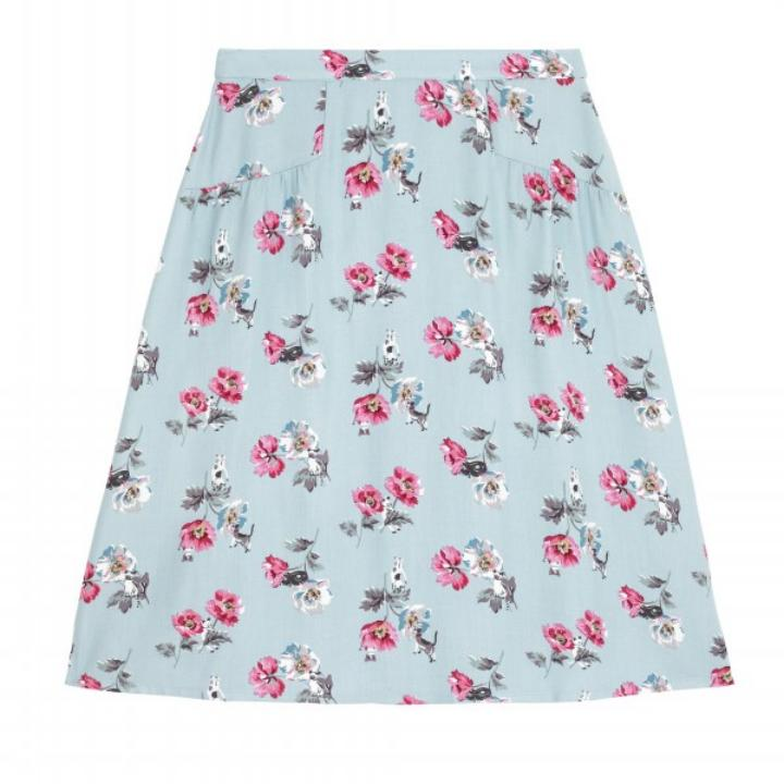 CATS AND FLOWERS SKIRT 12