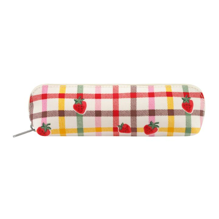 PENCIL CASE STRAWBERRY GINGHAM