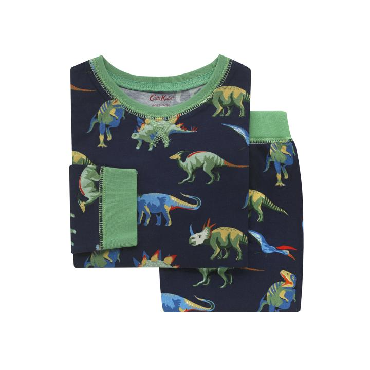 Kids LS Jersey PJs T-rex and Friends Navy