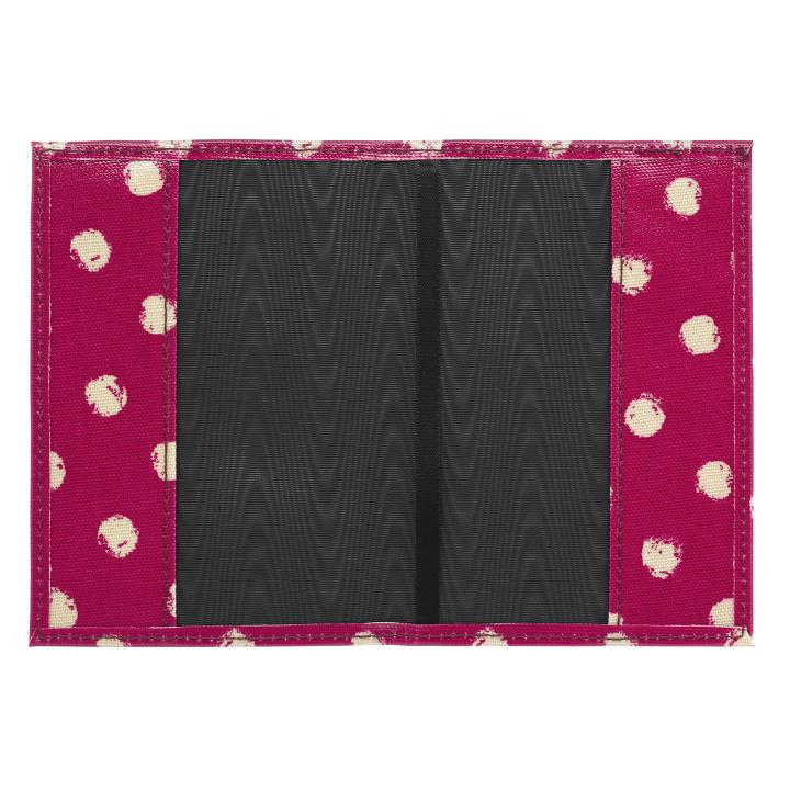 PASSPORT HOLDER O/C MINI SMUDGE SPOT CERISE