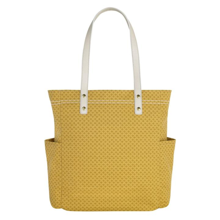 L CANVS TOTE SHADOW FLOWERS M