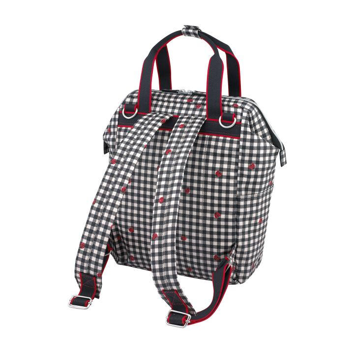 BACKPACK NAPPY BAG LADYBUG GINGHAM