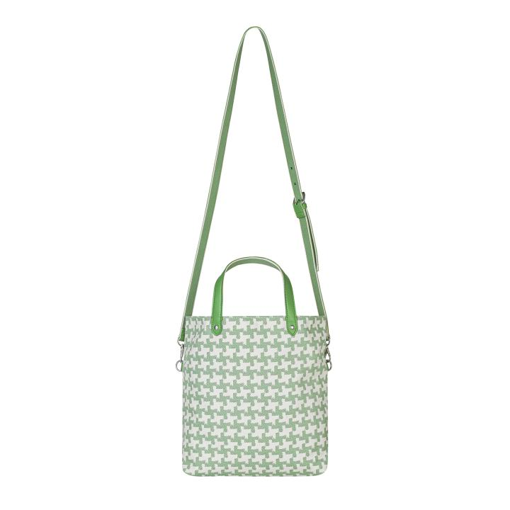 REVERSIBLE CROSS BODY HOUNDSTOOTH